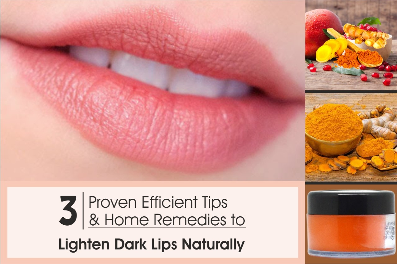 How to lighten dark lips & Home Remedies To Lighten Dark Lips