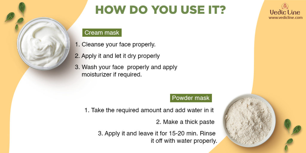 How you can use face mask-Vedicline
